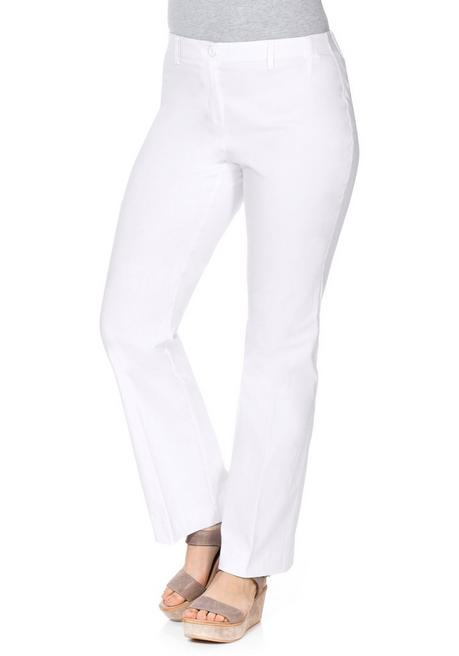 BASIC Bootcut Bengalin-Stretch-Hose - weiß - 40