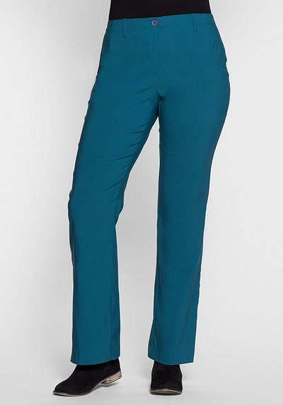 BASIC Bootcut Bengalin-Stretch-Hose - orientblau - 40