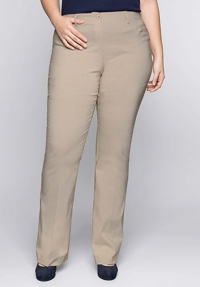 BASIC Bootcut Bengalin-Stretch-Hose - softtaupe - 44