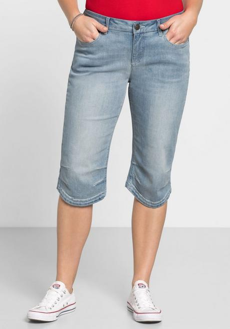 Capri-Jeans mit Used-Effekten - blue Denim - 40