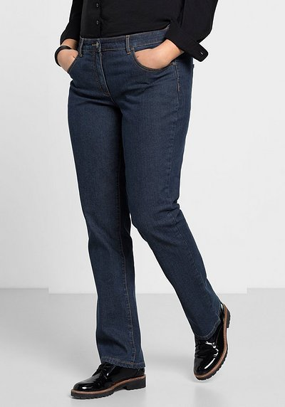 Gerade Stretch-Jeans - dark blue Denim - 40