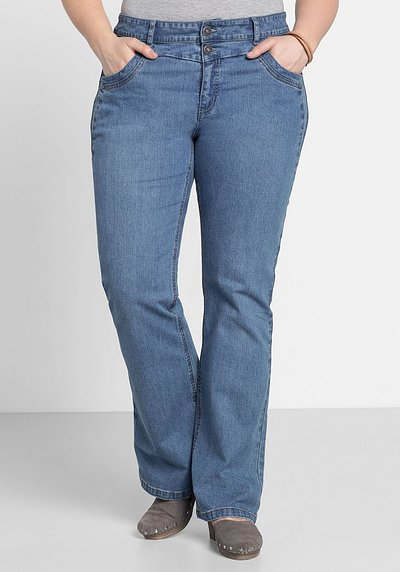 Bootcut-Stretch-Jeans MAILA - blue Denim - 44