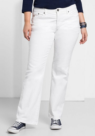 Bootcut-Stretch-Jeans MAILA - white Denim - 40