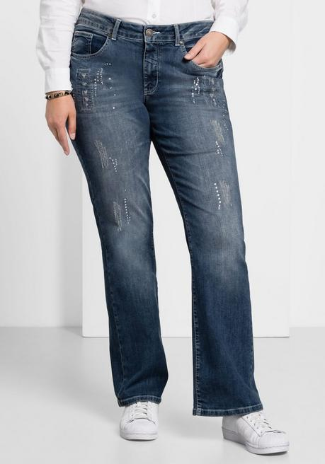 Bootcut Stretch-Jeans MAILA - blue Denim - 40