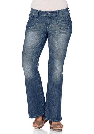 Stretch-Schlagjeans - blue Denim - 40