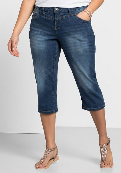 Schmale Capri-Stretch-Jeans - blue Denim - 40
