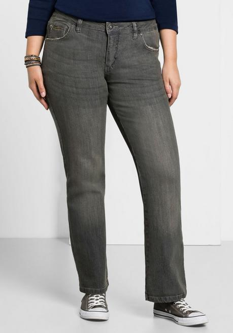 Bootcut-Stretch-Jeans MAILA - grey Denim - 40