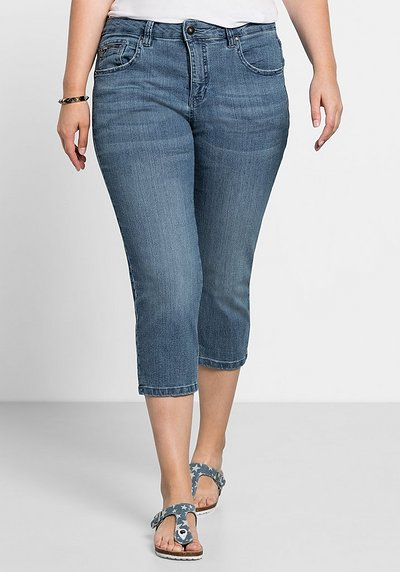 Capri-Stretch-Jeans - light blue Denim - 40