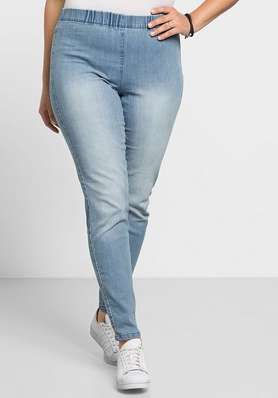 Jeggings mit Used-Effekten - light blue Denim - 40