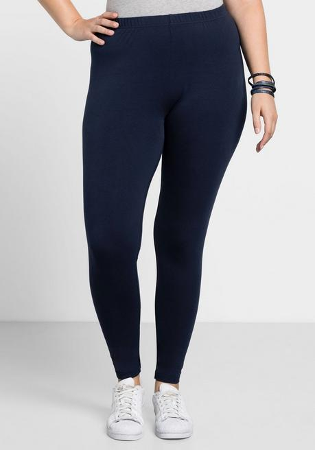 BASIC Leggings mit Gummizugbund - marine - 40
