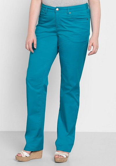 BASIC Gerade Stretch-Hose - italienblau - 40