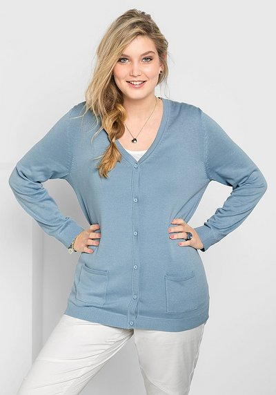 BASIC Strickjacke - hellblau - 40/42