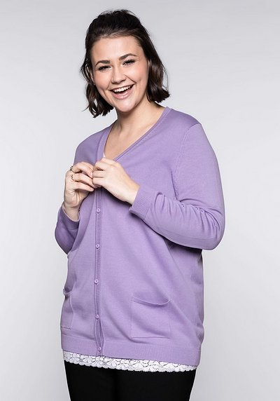 BASIC Strickjacke - lavendel - 44/46