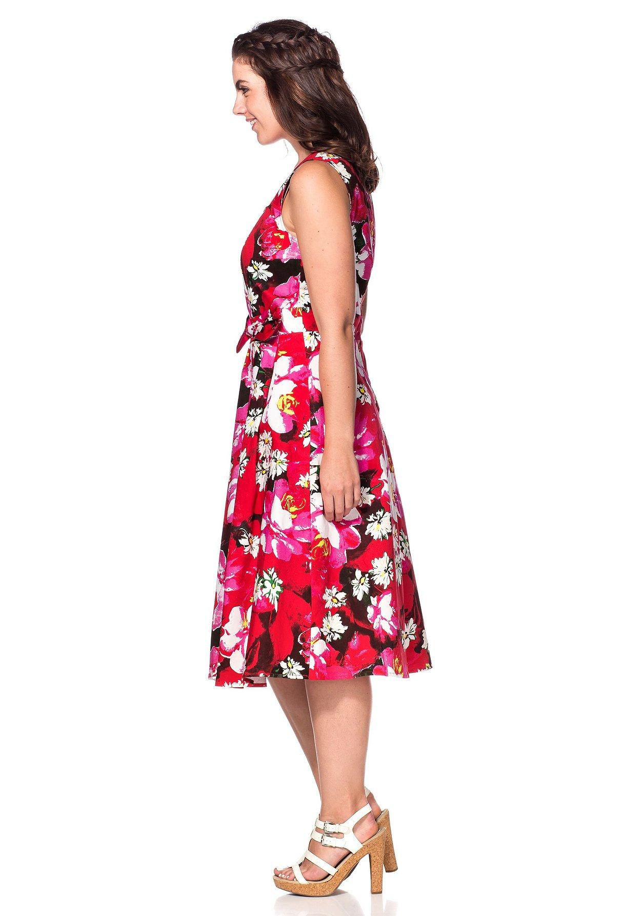 Kleid Mit Kleid MehrfarbigSheego Herzausschnitt Mit 2EHDYW9I