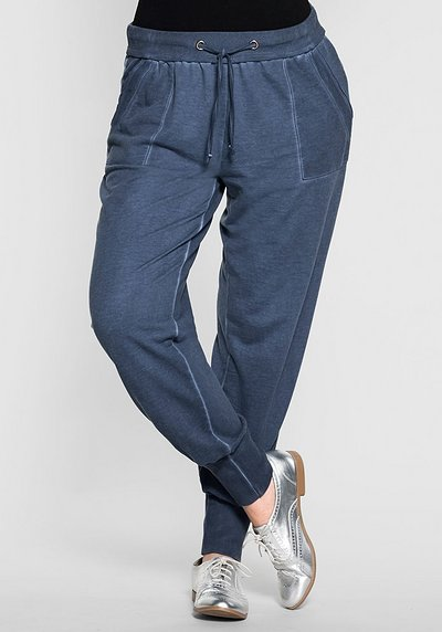 Weite Jogger-Pants - jeansblau - 40