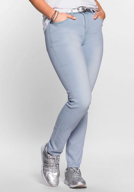 Skinny Power-Stretch-Jeans in 5-Pocket-Form - light blue Denim - 40
