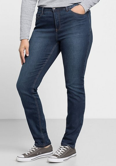 Skinny Power-Stretch-Jeans in 5-Pocket-Form - dark blue Denim - 40