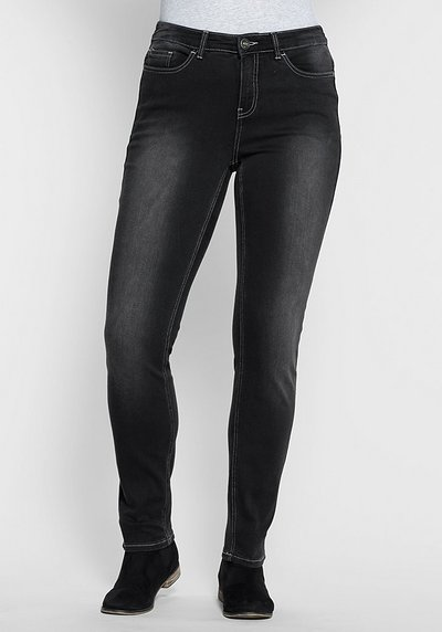 Skinny Power-Stretch-Jeans in 5-Pocket-Form - black Denim - 40