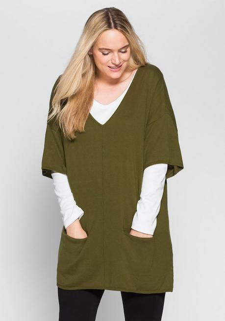 Oversize-Pullover - lorbeer - 40/42
