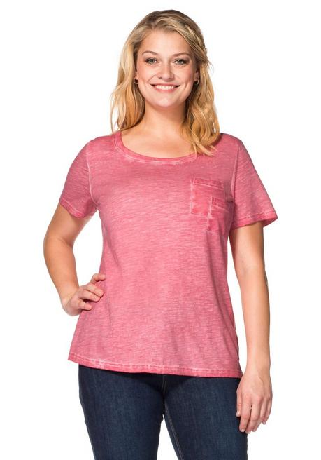 T-Shirt in Oil-washed-Optik - wüstenrose - 40/42