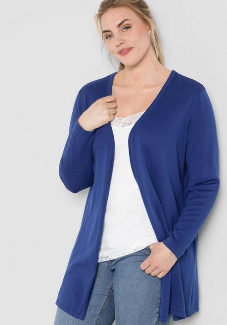 BASIC Longcardigan in verschlussloser Form - royalblau - 44/46