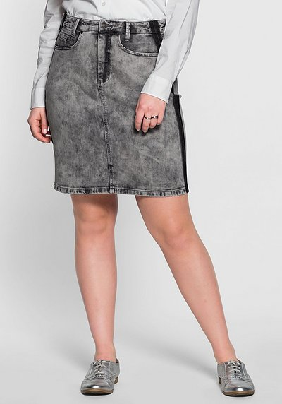 Jeansrock im Batik-Look - grey moon Denim - 40