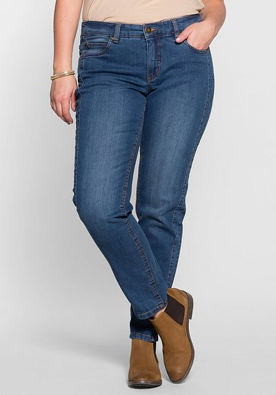 Schmale Stretch-Jeans KIRA - blue Denim - 40