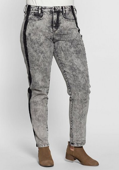 Stretch-Jeans im Batik-Look - grey moon Denim - 40