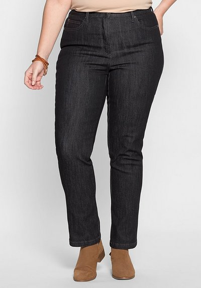 Schmale Stretch-Jeans - black Denim - 40