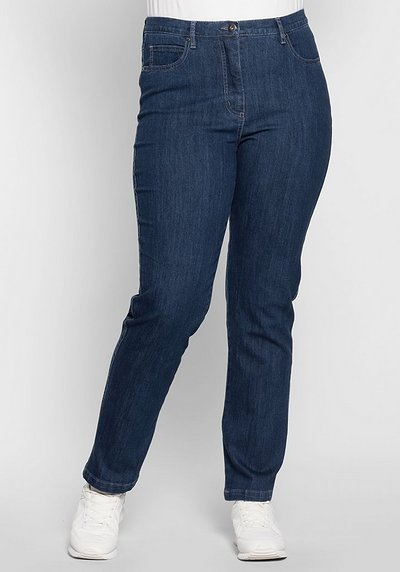 Schmale Stretch-Jeans - blue stone Denim - 40