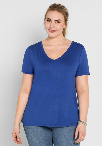 BASIC T-Shirt mit kurzem Arm - royalblau - 44/46