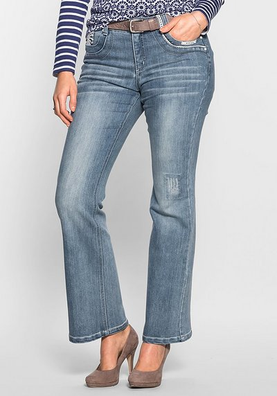 Bootcut-Stretch-Jeans im femininen Look - light blue Denim - 40