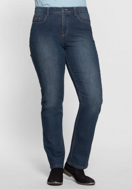 Gerade Stretch-Jeans LANA Bodyforming-Effekt - blue Denim - 40