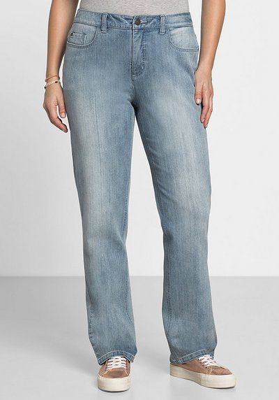 Gerade Stretch-Jeans LANA Bodyforming-Effekt - light blue Denim - 40
