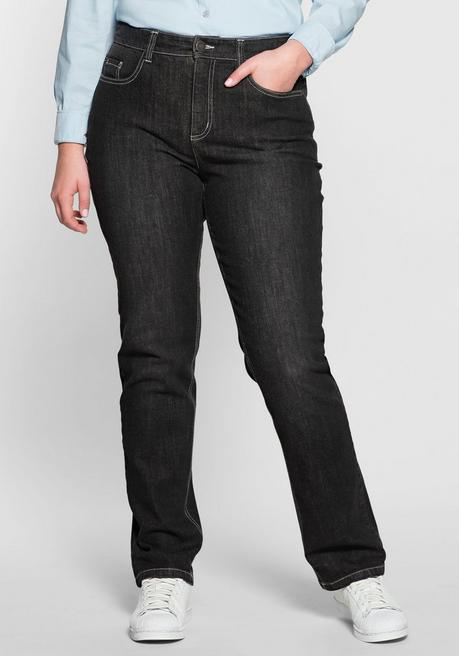 Gerade Stretch-Jeans LANA Bodyforming-Effekt - black Denim - 40