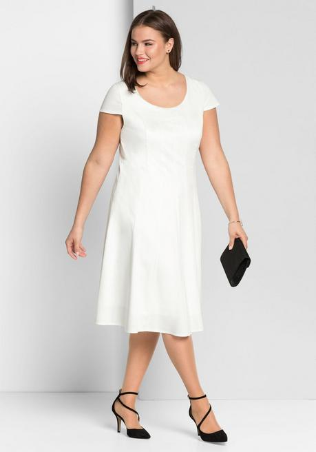 Cocktailkleid in Bahnenform - offwhite - 44