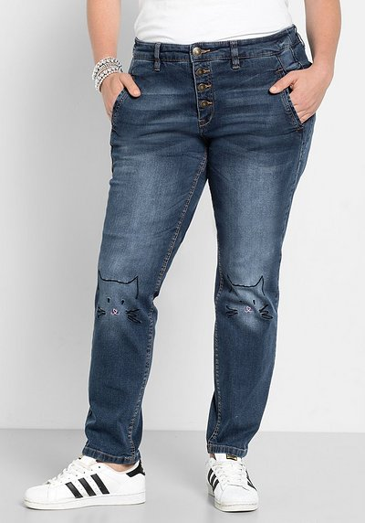 Stretch-Jeans im Boyfriend-Look - blue Denim - 40