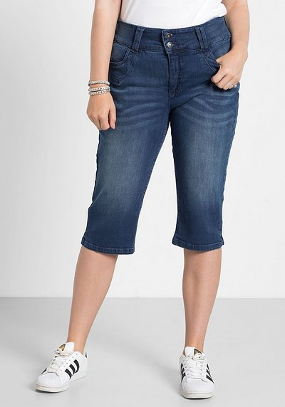 Capri-Stretch-Jeans - blue Denim - 40