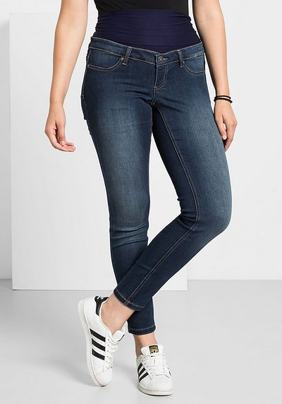 Skinny Power-Stretch-Jeans mit Jerseybund - blue Denim - 40