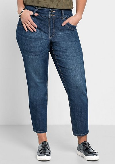 Schmale 7/8-Jeans in individueller Waschung - dark blue Denim - 40