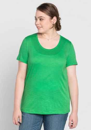 Modische Basics in großen Größen in grün in Größe 42 - online kaufen ... b5fd5f5ead