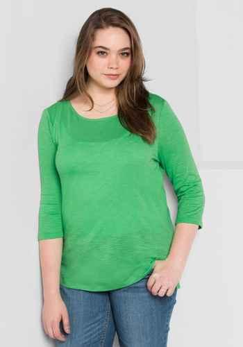 Modische Basics in großen Größen in grün in Größe 42 - online kaufen    sheego ce37aebf41