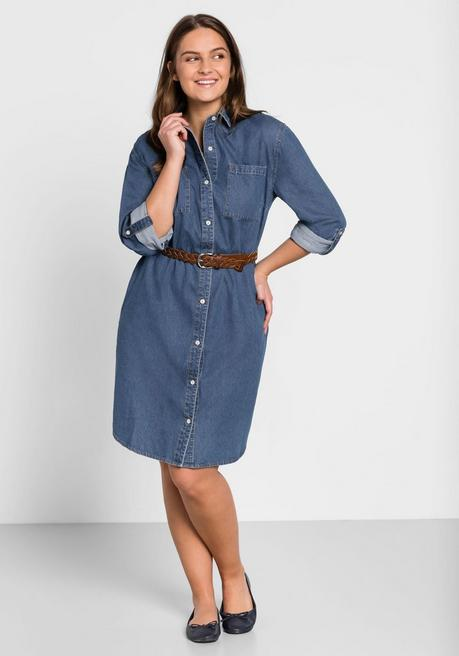 Jeans-Blusenkleid - blue Denim - 44