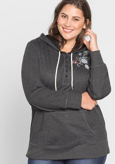 Sweatshirt mit Stickerei - anthrazit - 44/46