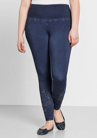 Leggings mit Stickerei - marine - 44