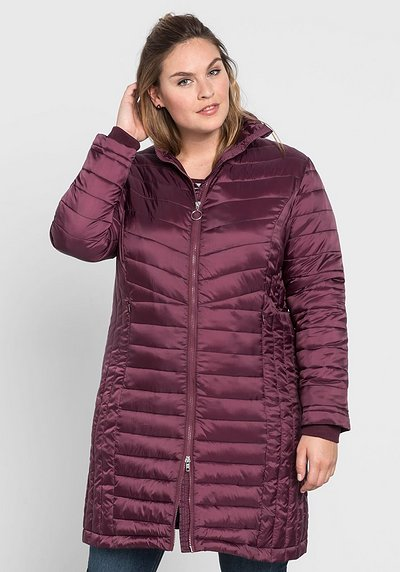 Stepplongjacke in ultraleichter Wattierung - aubergine - 44