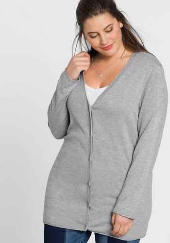 9b0db26dcc9ea6 Damen Pullover & Strickjacken große Größen grau   sheego ♥ Plus ...