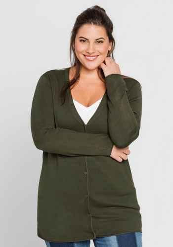 93be8905076c5b Damen Pullover & Strickjacken große Größen grün   sheego ♥ Plus ...
