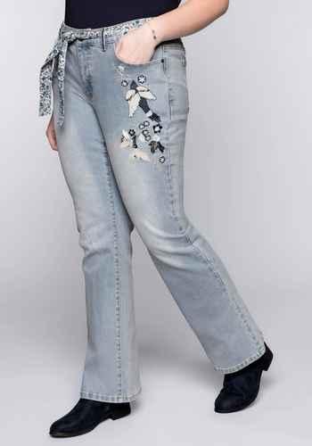 76ba5755d889f4 ... niedrigster Preis · höchster Preis · 46 alles zurücksetzen · Bootcut- Jeans mit Stickerei - light blue Denim