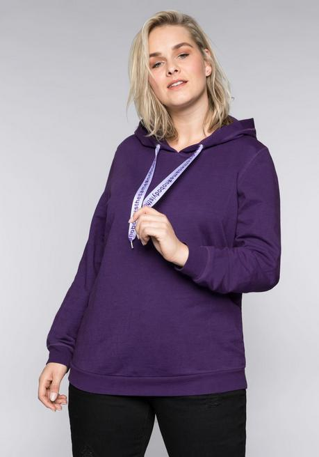Sweatshirt mit Statement-Bindeband - lila - 44/46